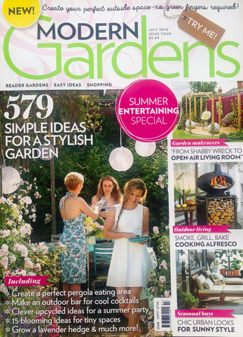 Our wideboy deckchair included in Modern Garden Magazine