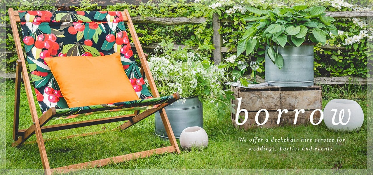 deckchair hire for weddings & parties