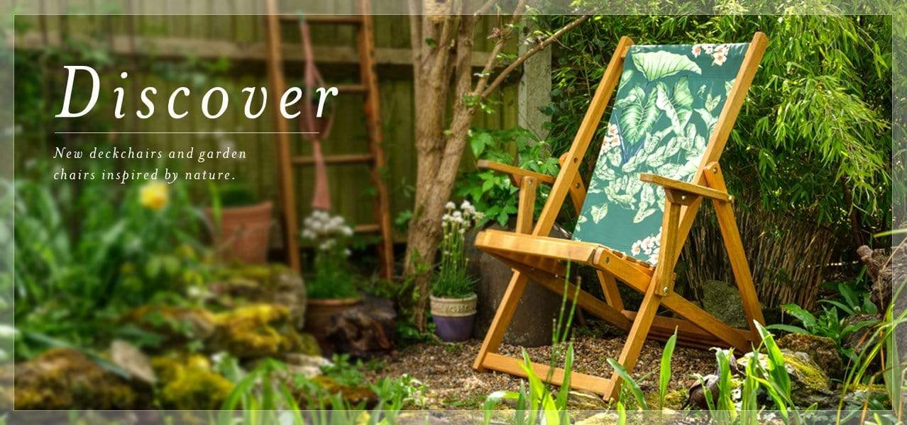 Deckchairs and wooden garden chairs