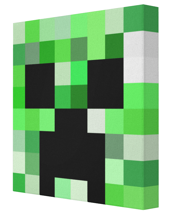 Minecraft Creeper Canvas Painting