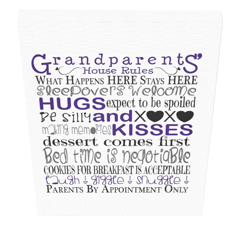 Grandparents House Rules Canvas 1