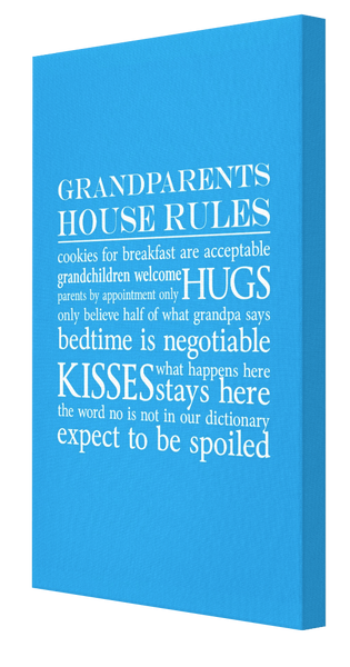 Grandparents House Rules Canvas 4 - Pics On Canvas
