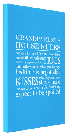 Grandparents House Rules Canvas 4