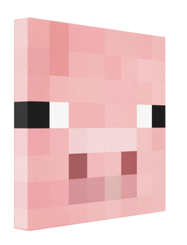 Minecraft Pig - Pics On Canvas