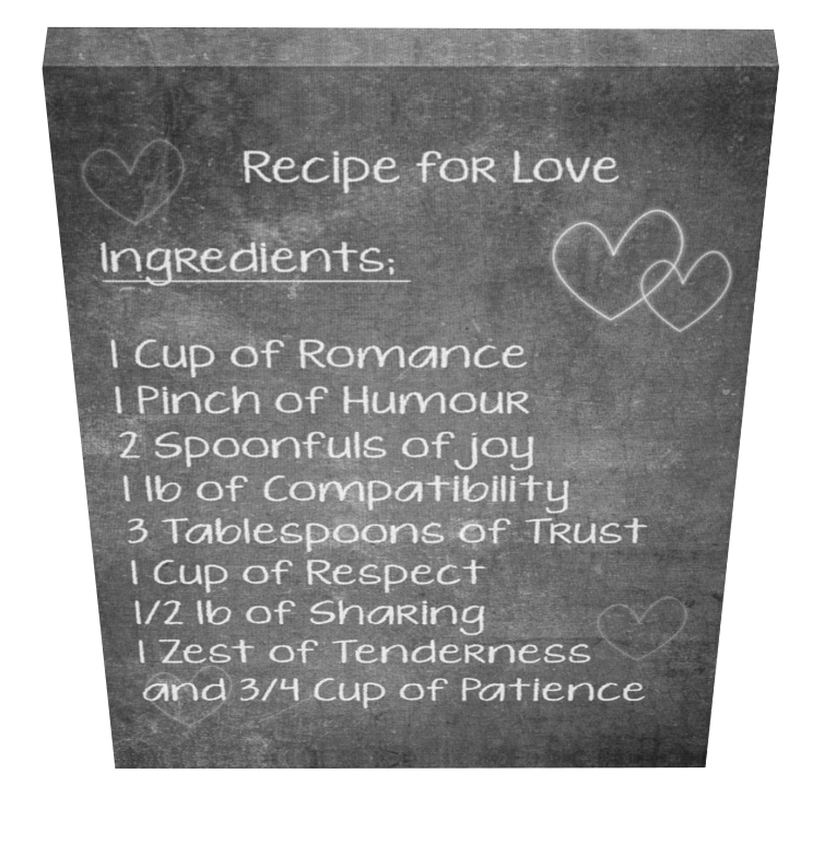 Recipe for Love Canvas - Pics On Canvas