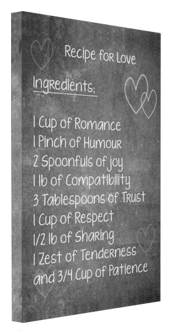 Recipe for Love Canvas