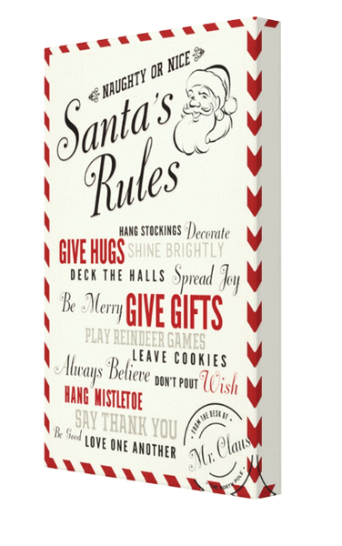 Santa Rules Canvas