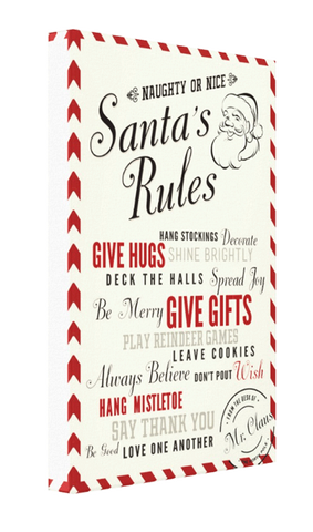 Santa Rules Canvas - Pics On Canvas