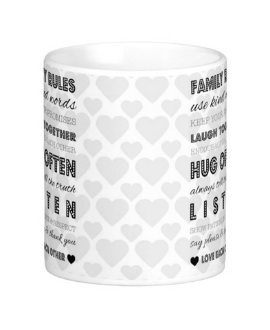 Family Rules Mug - Pics On Canvas