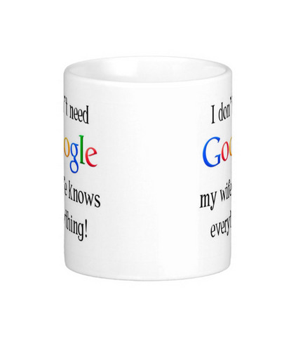 Google Mug - Pics On Canvas