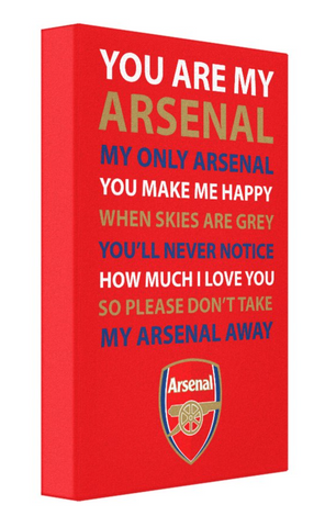 Arsenal Football Song Canvas