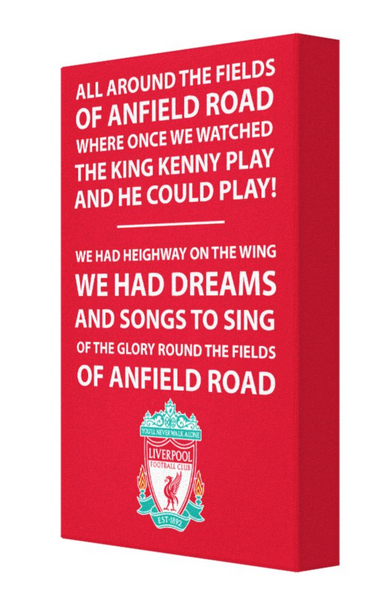 Liverpool Football Song Canvas