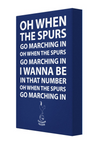 Spurs Football Song Canvas