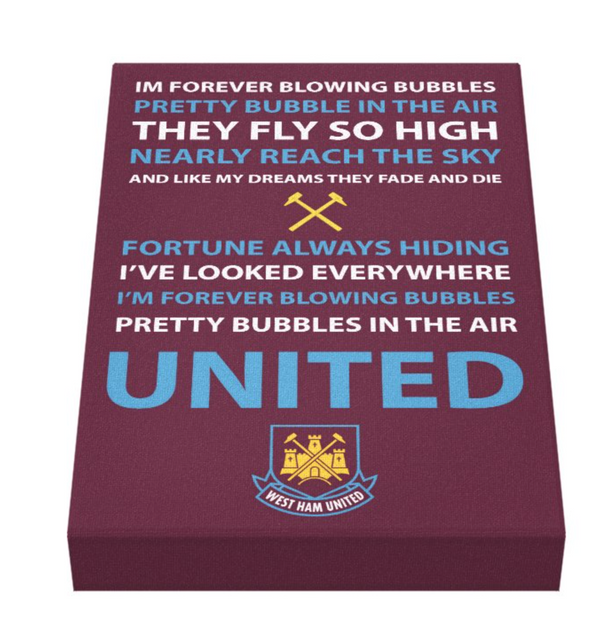 West Ham Football Song Canvas