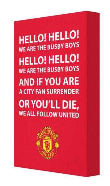 Man United Football Song Canvas
