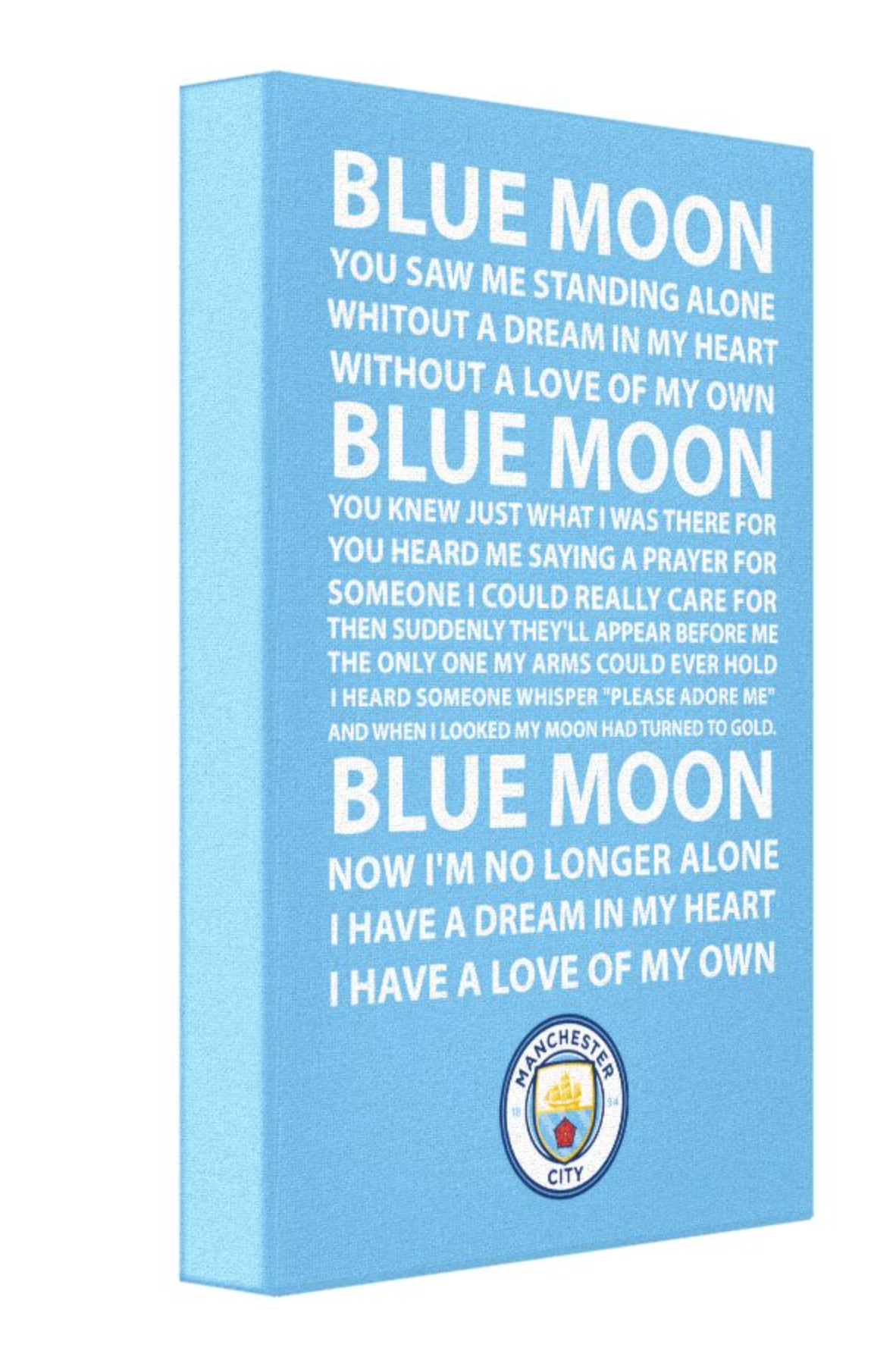 Man City Football Song Canvas
