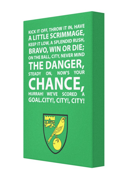 Norwich City Football Song Canvas