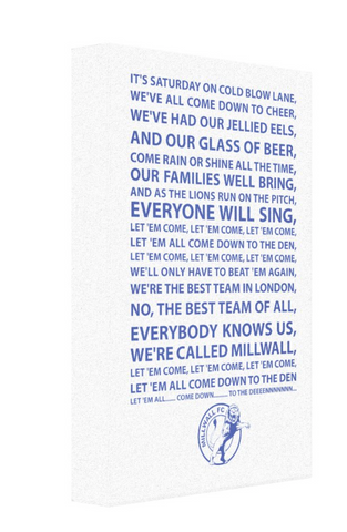 Millwall #1 Football Song Canvas