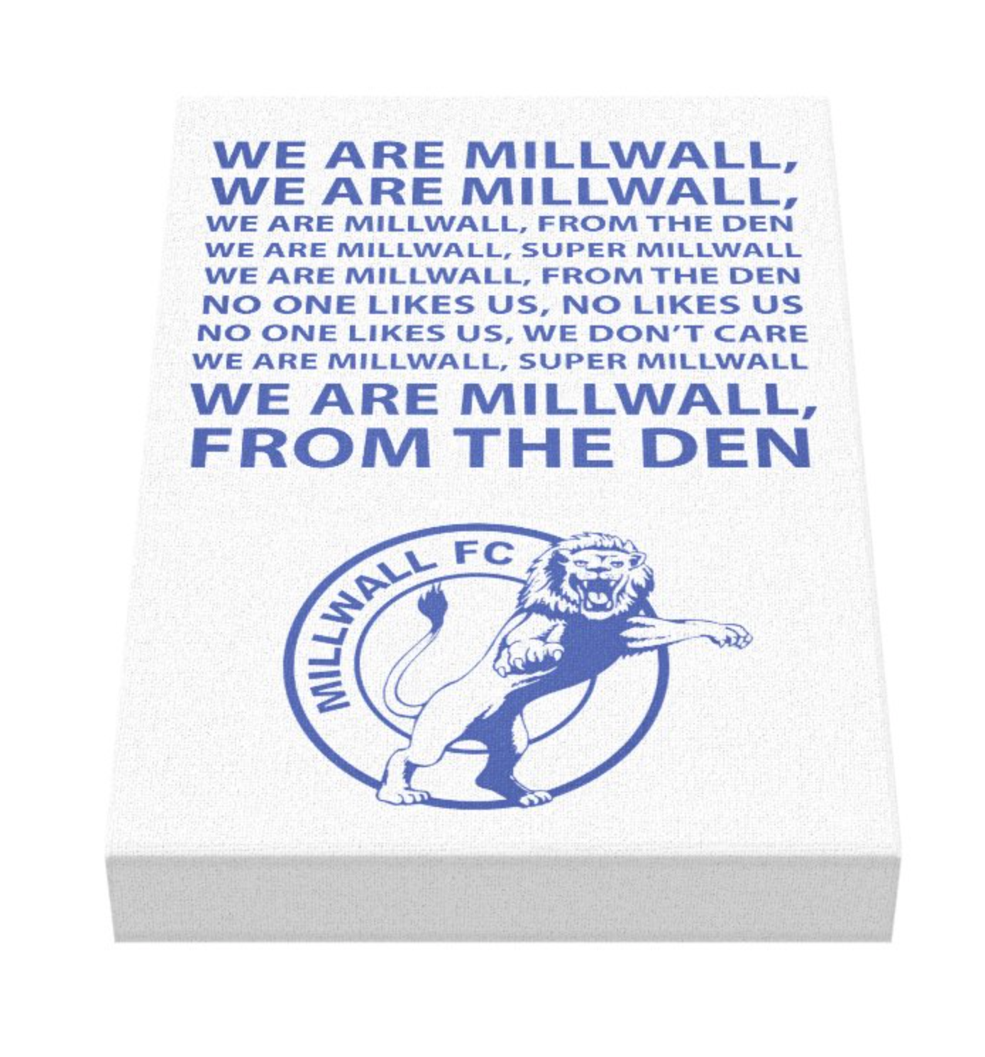 Millwall Football Song Canvas v2