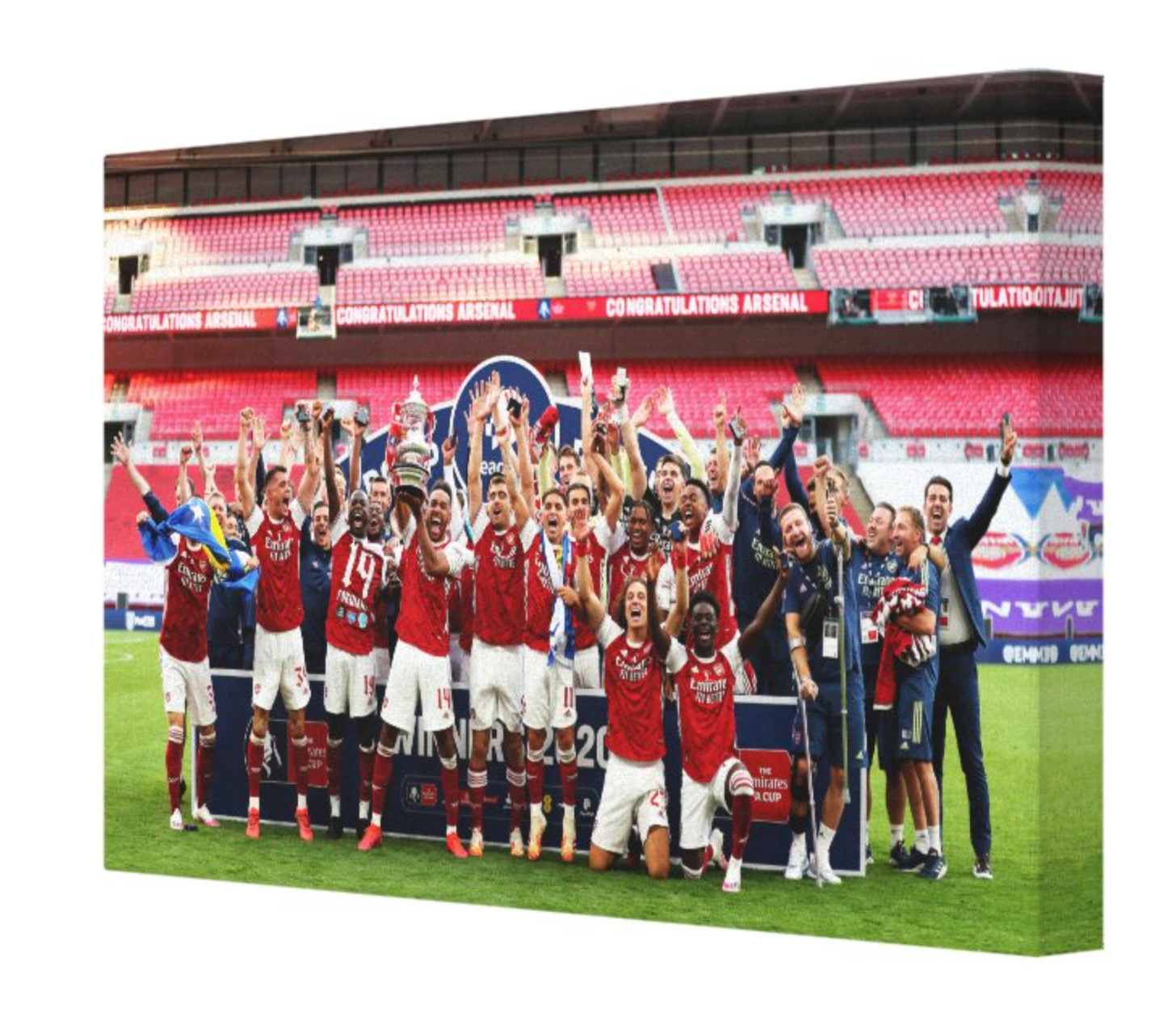 Arsenal FA Cup Winners 19/20 Canvas