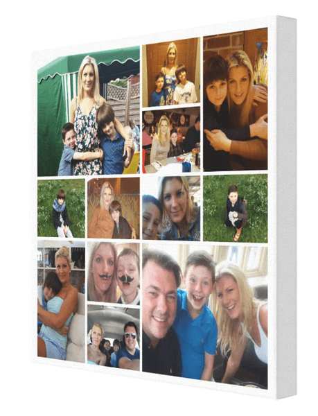 12 Image Jigsaw Sq Collage - Pics On Canvas
