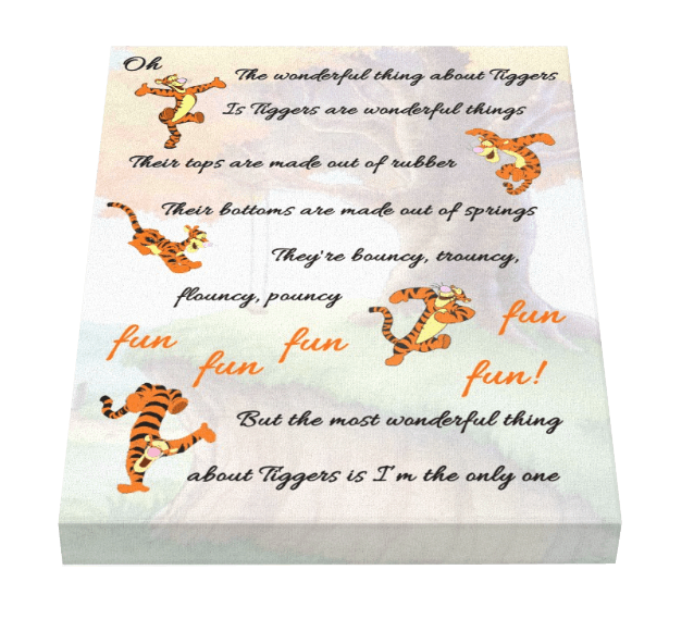 Tigger Song Canvas - Pics On Canvas