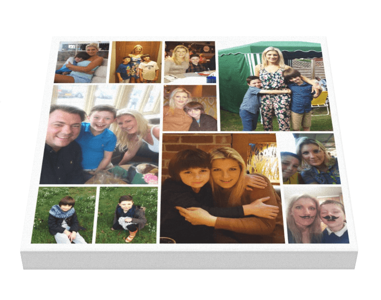 11 Image Jigsaw Sq Collage - Pics On Canvas