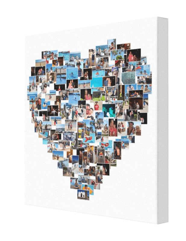 Heart Shaped Image Canvas Pics On Canvas