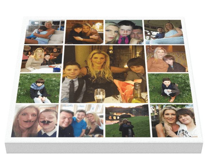 17 Image Tile Sq Collage - Pics On Canvas