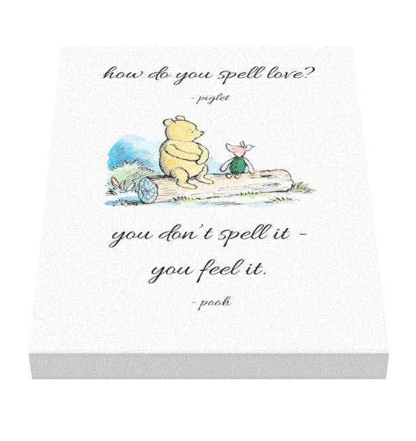 Winnie The Pooh Love Canvas - Pics On Canvas