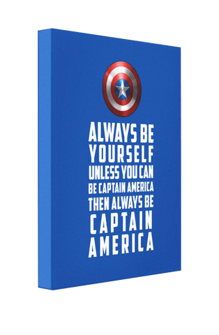 Be Captain America v1 - Pics On Canvas