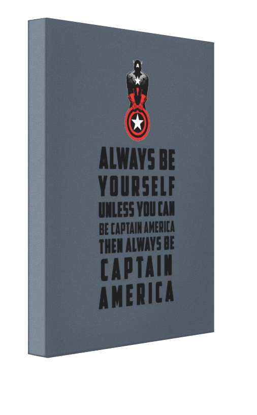 Be Captain America v2 - Pics On Canvas