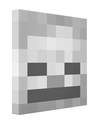 Minecraft Skeleton - Pics On Canvas