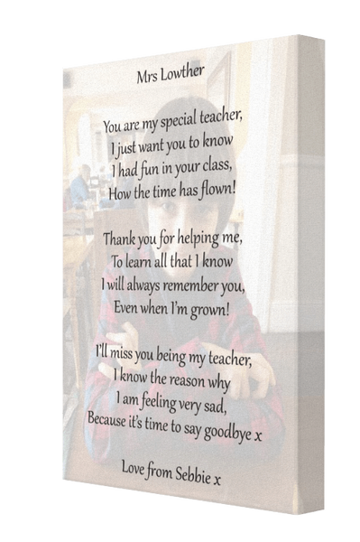 Special Teacher Canvas - Pics On Canvas