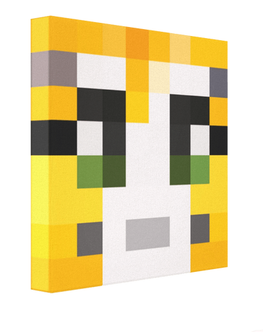 Minecraft Stampy Cat Face - Pics On Canvas