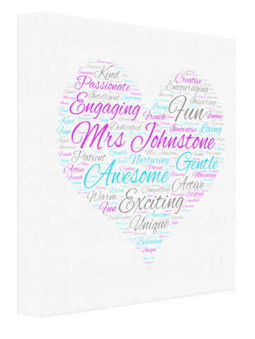 Teacher Word Cloud v2 - Pics On Canvas
