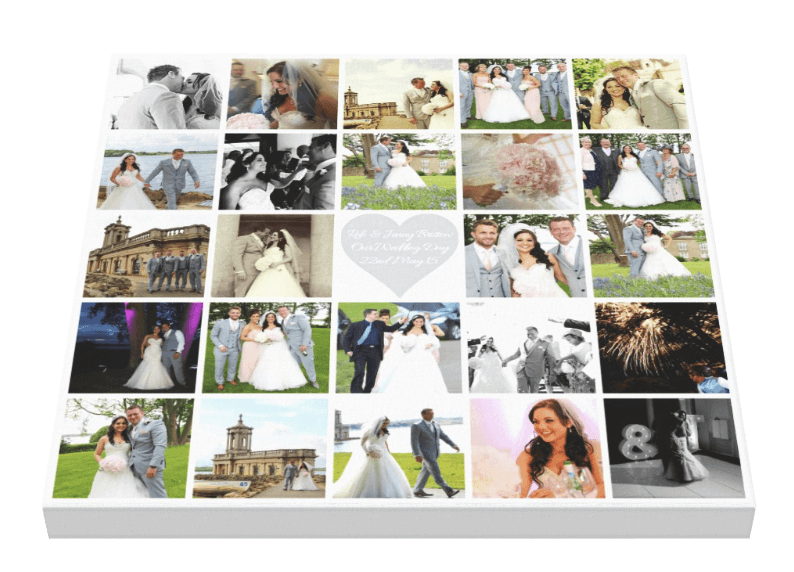 Wedding Collage + Bling - Pics On Canvas