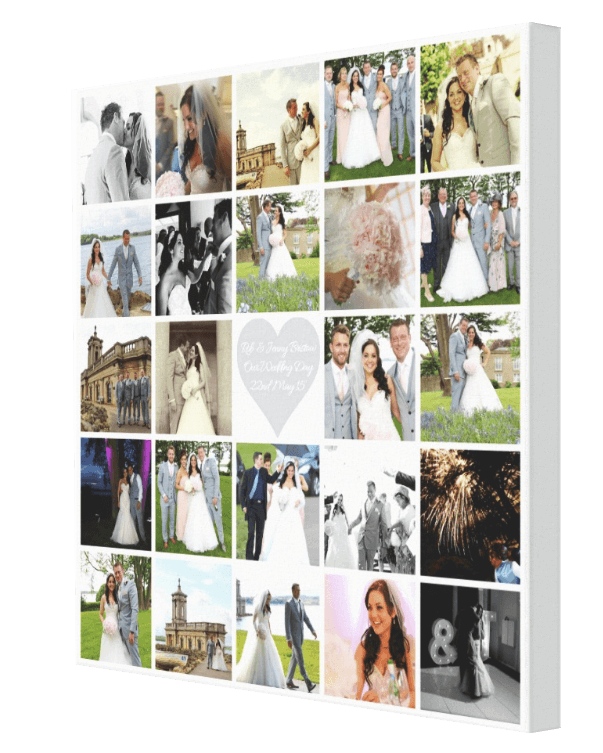 Wedding Collage + Bling - Pics On Canvas 9112d29622f0