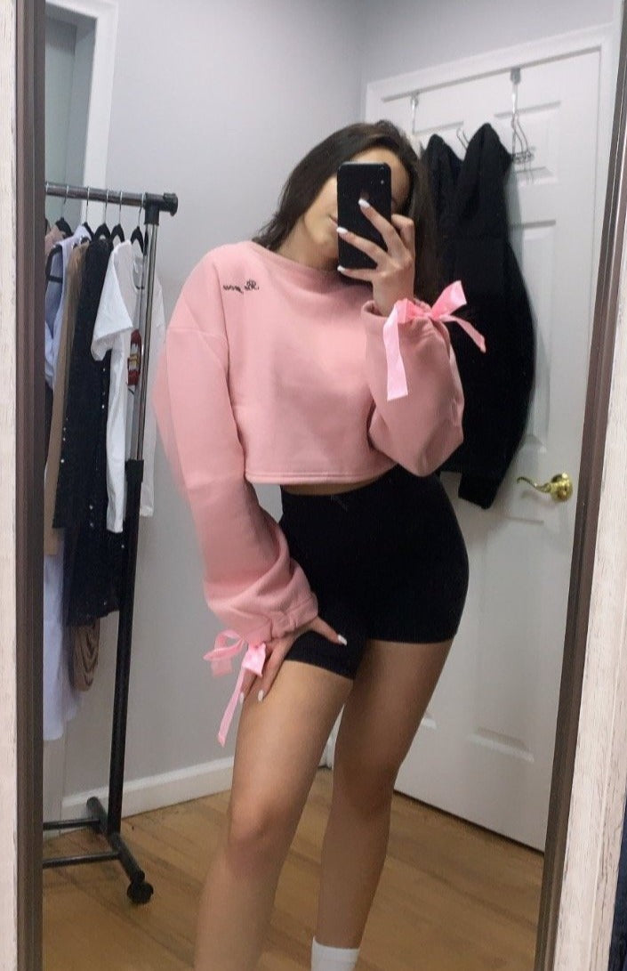 Be You Cropped Sweater · Pink