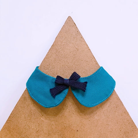Pet Collar Turquoise with Bow