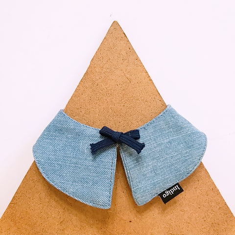 Pet Collar Denim with Bow