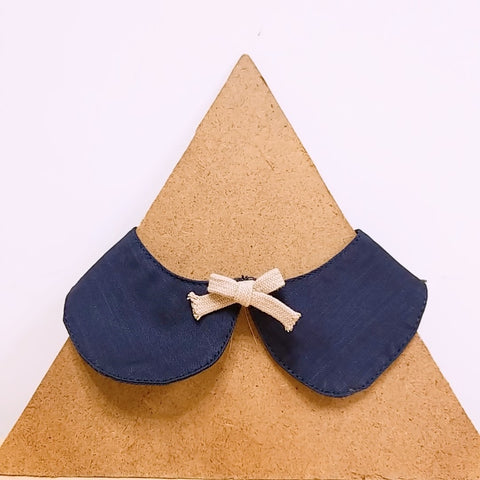 Pet Collar Navy with Bow
