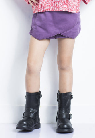 Purple Origami Shorts