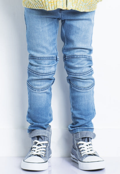 Biker Jeans Light Wash