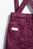Purple Coated Denim Overall Skirt