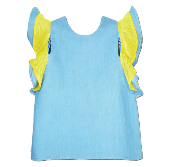 Sport Mesh Top Yellow