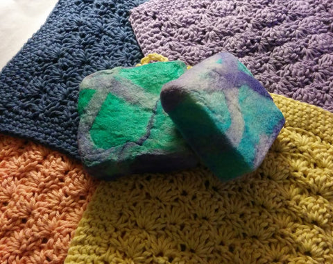 Felted Soap and Washcloth Gift Sets
