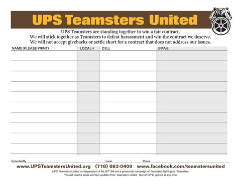 UPS Contract Petition