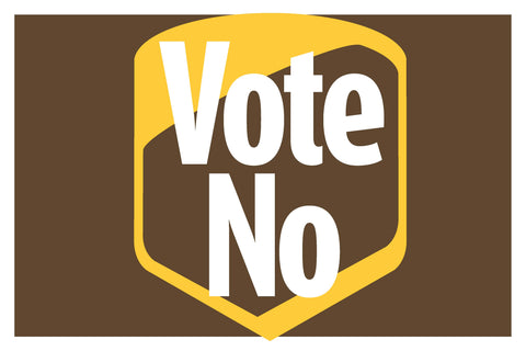 Vote No Signs