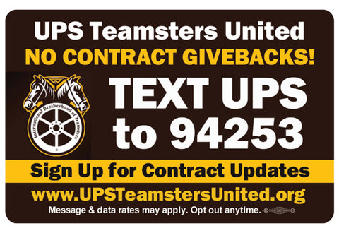 UPS Teamsters United Stickers 3 3/4 Inches
